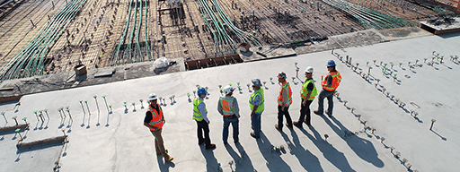 workers on construction field