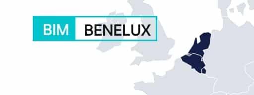 BENELUX region shown on a map