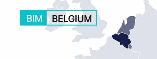 Belgium shown on a map